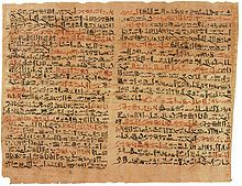 Edwin Smith Papyrus Aincient Egyptian medical text. Named after the person who bought it. Oldest known surgical disclosure.