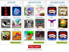Play Free Online Games from various categories includes Action, Adventure, Sports, Fighting, Education, Puzzles, Shooting, Driving, Dress-Up, Strategy, Board Games and more.