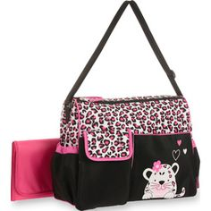Baby Boom Cheetah Lique Duffle Diaper Bag Cute Bags Dad Black