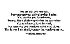 William shakespeare ❤️ this makes so much sense!
