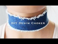DIY Denim Choker | Amrani & Roy - YouTube