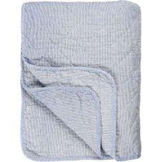Decke - Plaid - blau/weiß, 130 x 180 cm Quilt, Products, Light Blue, Stripes, Textiles, Cotton, Colors, Homes, Quilt Cover