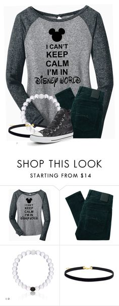 """""""what to wear  when you go to  Disney World"""" by kittykatmuniza ❤ liked on Polyvore featuring Nobody Denim and Converse"""