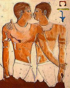 Earliest recorded evidence of a same-sex couple. I had no idea that this existed, but they were the royal servants Khnumhotep and Niankhkhnum (manicurists) that were found buried together as a married couple. From the year 2400 B.C.