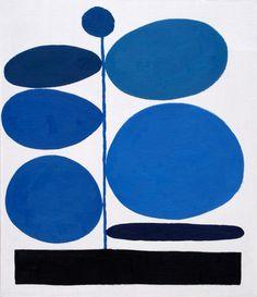 Jonas Wood, Untitled (Blue on White), Oil on Treated Cardboard, 2010