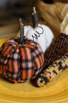 No-Sew Quilted Pumpkins, easier than they look. Find the Tutorial at ThinkCrafts.com