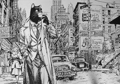 This is gorgeous! From one of my all time favorite, and probably the greatest ever, anthro comic, Blacksad. The art throughout the entire comic is simply beautiful!