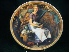 Edwin Knowles China Plate #9159AN Norman Rockwell's Rediscovered Women 1st EUC