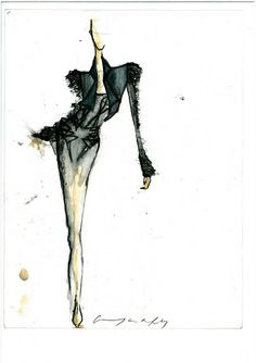 Fashion illustration - fashion sketch from the cage dress collection // Georgia Hardinge