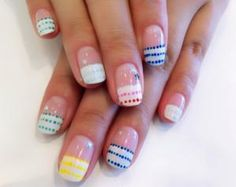 cute nail art color polka dots