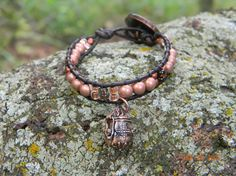 Copper Poison Locket antiValentines day beaded and by Aerieanna, $24.00