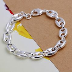 Free Shipping Wholesale 925 jewelry silver plated bracelet, 925 jewelry silver plated fashion jewelry 8 Shape Bracelet H133