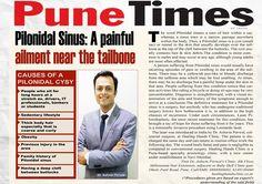 #NewsFeed #PuneTimes #Pilonidal #Sinus treated at #DrAshwinPorwal's #HealingHandsClinic-Pune