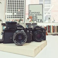 Analog is the new black II  Nikon FM (1977-1982) & Nikon FE (1978-1983) 35mm Film Cameras  #Nikon #NikonFM #NikonFE #35mm #filmisnotdead #analog #analogphotography #reflex #oldschool #fotografia #film #vscocam