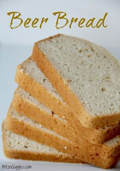 Beer Bread - Love Tastefully Simple Beer Bread? This recipe is close if not even a little better! Make your own at home! {BitznGiggles.com}  #beer, #bread, #TastefullySimple