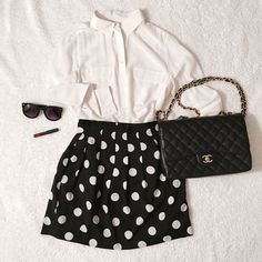 Polka Dot Flare Skirt♣️ Polka Dot Flare Skirt♣️ Perfect for S/S! Size S. 100% polyester. Lined. Worn once. Like New Condition  ✗No paypal, No trade ✗I don't sell on any other site ✔I do accept reasonable offers ✔️Items will be shipped within 1-2 business days Bundle 2+ items to get 10% off! Skirts