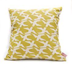 Cushion cover 40x40cm  Cloudbirds in Goldfinch by skinnylaminx, $34.00