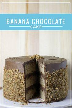 Banana #Chocolate Cake- it's the perfect #cakeforbreakfast, I promise!   Dough-Eyed