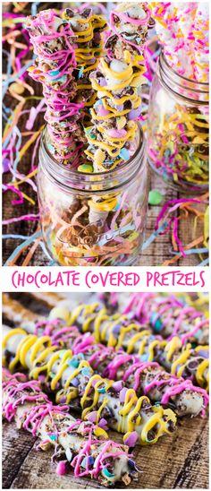 Homemade Chocolate Covered Pretzels | deliciouslysprinkled.com