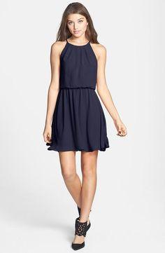 Beautiful navy chiffon dress.