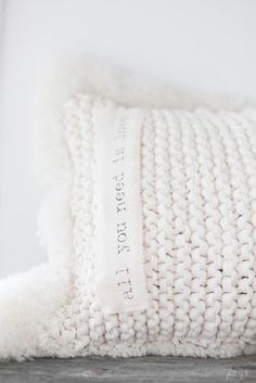 White All You Need Is Love Pillow