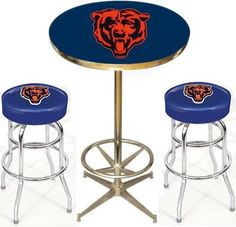 Chicago Bears Pub Table Set. Man cave stuff :)