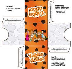 Convite Caixa Tampa Os Flintstones: