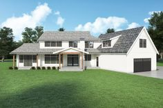 Looking for a modern farmhouse? Check out this cool and stylish country style home. It gives you farmhouse flair and cool curb appeal. Questions? Call 1-800-447-0027 today. #architect #architecture #buildingdesign #homedesign #residence #homesweethome #dreamhome #newhome #newhouse #foreverhome #interiors #archdaily #modern #farmhouse #house #lifestyle #designer Farmhouse Design, Farmhouse Style, Country Style, Kitchen Cabinets Elevation, Porch Fireplace, Farmhouse Floor Plans, Floor Framing, How To Plan, House Styles