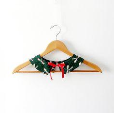 Green PeterPan Collar  Detachable