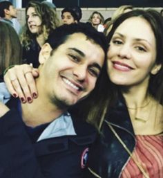 Happy and In Love: Elyes and Kat at a LA Galaxy game on March 19, 2016