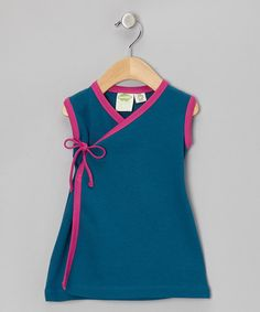 Take a look at this Blue & Pink Organic Wrap Dress - Infant & Toddler by Parade Organics on #zulily today!