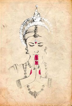 Odissi illustration by Güngur Arts  #gungur #indianfinearts #odissi #indianclassicaldance #woodpaper #illustration