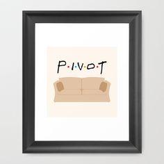 Pivot - Friends Tribute Framed Art Print by The LOL Shop - $34.00