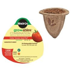 Ideal for beginning gardeners, Miracle-Gro Groables take the guesswork out of gardening. The pod places the seed at the proper depth and provides growing medium and nutrition for healthy plants. Check out the enthusiastic customer comments about the tomato pods.