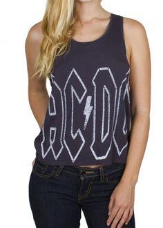 Womens AC/DC Logo Tank Shirt by Junk Food