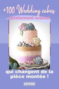 Des gâteaux de mariage qui créentl'événement, en voici plus d'une centaine, à commander ou à confectionner. ///#aufeminin #gateaudefete #gateaudemariage #piecemontee #mariagegateau #nudecake Brunch, Voici, Cake, Crochet Hats, Inspiration, Fiesta Kitchen, Party Desserts, Sprouts, Knitting Hats