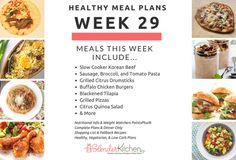 Healthy Meal Planning Made Easy & Week 29 Meal Plan