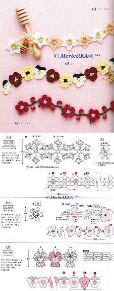 Crochet: Edgeing motifs | Fringe | Pinterest | Kunsthandwerk ...