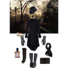 """What I'll be wearing when the last leaves have fallen. """"Bittersweet November"""" by callunajean on Polyvore"""