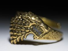House Stark Direwolf Ring Game of Thrones by ArtifactoryStore