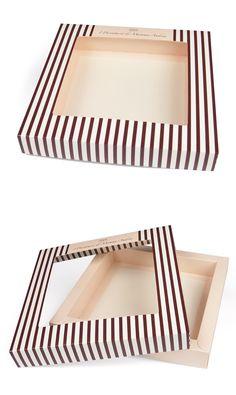 Scatola doppia parete con coperchio e finestra