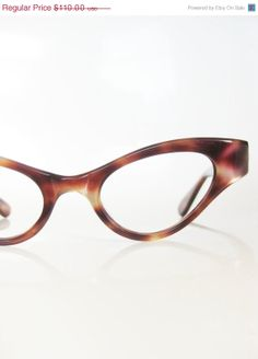 Vintage Eyeglasses 1960s Cat Eye by OliverandAlexa, $66.00