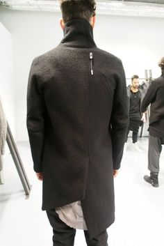 Boris Bidjan Saberi fw13 assymetric back coat