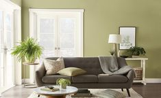 Behr - Color of the Year Paint Color Trends Back to Nature Indoor Paint Colors, Green Paint Colors, Best Interior Paint, Interior Paint Colors, Interior Design, Room Interior, Behr Colors, Back To Nature, Trending Paint Colors