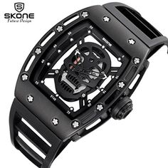 Fullfun Skone Men Unique Skull Designer Skeleton Watch Cool Fashion Quartz Smart Wristwatch (black) 21.00  #Black #CaseDiameter #CaseThickness #Fullfun #MaterialAlloy #Material:Alloy+silicone #MirrorHigh #Mirror:Highstrengthhardenedglass #Skullandcrossbones #Stylishdesign,goodgiftsforfamilyorfriends #Withmaterial:hollowsiliconestrap Description: This is a stylish very attractive combination of multi-functional quartz watch It is characterized by the surface of the hollow, is