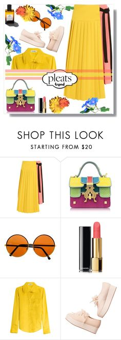 """#720   #pleats"" by wonderful-paradisaical ❤ liked on Polyvore featuring Marni, Giancarlo Petriglia, Garance Doré, Chanel, Jil Sander, Monki, pleats, polyvorecontest and pleatsplease"