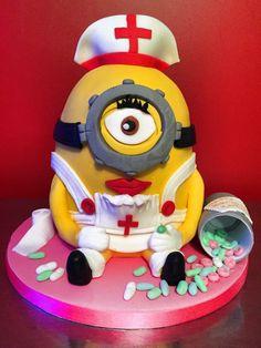 Nurse minion birthday cake