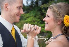 Bride & Groom, Pose, Rings, Wedding