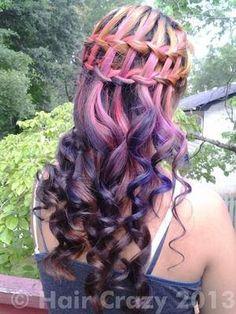 Pretty Purple Hair ~ MsA Fancy Hairstyles, Braided Hairstyles, Pink Purple Hair, Lilac, Lavender, Hair Dos, Your Hair, Hair Images, Hair Photo