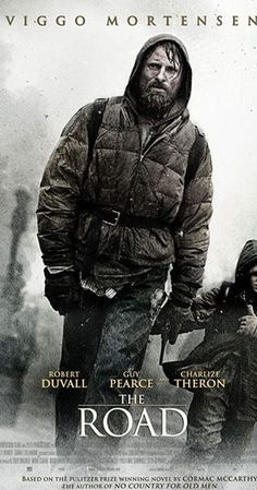 The Road - Directed by John Hillcoat. With Viggo Mortensen, Charlize Theron, Kodi Smit-McPhee, Robert Duvall. In a dangerous post-apocalyptic world, an ailing father defends his son as they slowly travel to the sea. Robert Duvall, Film Science Fiction, Fiction Books, La Route Film, Love Movie, Movie Tv, Films Cinema, Bon Film, Spider Man 2